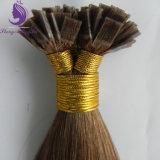 Estensione piana umana brasiliana dei capelli di punta di Remy di colore di #8 Brown