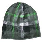 折られたトリムNTD1112が付いている編まれた帽子