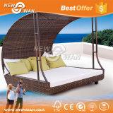 PE impermeável ao ar livre de vime Sofá definir com Pátio Umbrella (móveis)
