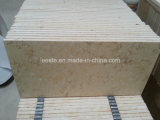 Sonnige beige natürliche Steinonyx-Marmor-Marmorierungfliese für Wand