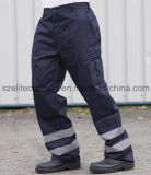 ReflectiveこんにちはVis Polycotton Trousers (ELTHVJ-142)の反射Cargo Pants Flame Resistan Pants