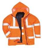 Встреча 100% куртки безопасности видимости полиэфира высокая En/ANSI