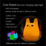 Het nieuwe van de de 7-kleuren van Ce RoHS van de Lamp Draagbare Licht Nacht HOOFD van de Baby voor de Gift van Kerstmis