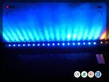 Licht van de Staaf 18pcsx3w van de LEIDENE Wasmachine van de Muur RGB Openlucht
