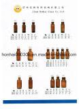 bernsteinfarbige Glasflasche des sirup-30ml mit pp.-Schutzkappe