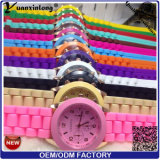 Heiße Quarz-Uhr-Silikon-Gummi-Plastikanzeigetafel-Frauen-Uhr des Verkaufs-Yxl-787 Japan-Movt