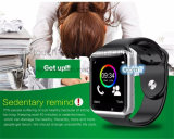 De hete Verkopende Kleurrijke Telefoon van het Horloge van het Scherm Slimme met Mtk6261 Spaander A1