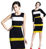 Madame Working Dress de bureau de bureau de robe de robe sans manche de Bodycon Nice