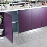 N及びL紫色の現代食器棚は2パックの食器棚をセットした