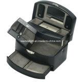 Синтетика черноты коробки ювелирных изделий с зеркалом автоматическим и случаем перемещения