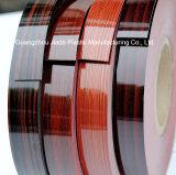 Design de grãos de madeira altamente brilhante Edgebanding decorativos de PVC