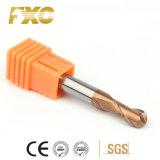 4 Flute HRC55 Gear Fresa com Extremidade Esférica