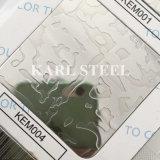 410 folha gravada cor da prata do aço inoxidável Kem004