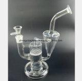Filtro transparente do favo de mel da tubulação de vidro transparente, preta do fumo