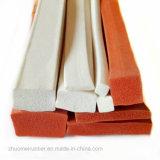 Junta do retângulo de espuma de silicone macio, esponja perfil quadrado