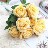 Романтический стиль нескольких цветов искусственные устраивающих букеты роз шелковые цветы
