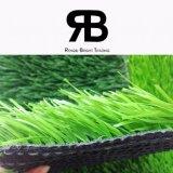 campo de fútbol de la alta calidad de 50m m que ajardina la hierba artificial del sintético del césped de la alfombra del césped
