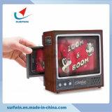 Carton de bricolage TV téléphone cellulaire à la loupe