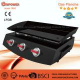Grille de barbecue 3 brûleurs Gaz Plancha avec ce pour la France