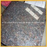 Top fini brun poli brun brun / anglais granit brun pour plancher et comptoir