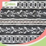 Bordado Cording cordón de nylon 100 nigeriana neto tela francesa del cordón