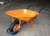 Курган колеса Wb6400 тачки вагонетки тележки инструмента сада резиновый