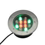 Lumière souterraine étanche en plein air LED RGB avec ce RoHS