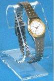 De eenvoudige Zwarte AcrylVertoning van de Opslag van het Horloge van het Venster van het Horloge van de Vertoning Houten