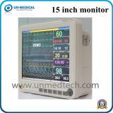 Monitor paciente portable de la pantalla táctil de 15 pulgadas para el uso veterinario