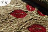 2016 Soft and Thickening, tissu de canapé jacquard de suède populaire