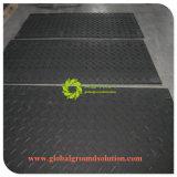 La couleur noire/Heavy Duty PE plastique Tapis de sol de la protection de la route pour l'Europe