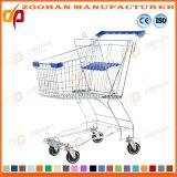 Вагонетка магазинной тележкаи супермаркета бакалеи магазина металла провода складывая (Zht164)