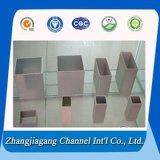 2014 2024 2017 hanno estruso conduttura quadrata di alluminio della parete sottile