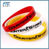 Vari fascini adatti della lettera della trasparenza dei braccialetti DIY del Wristband del silicone di colore