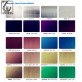 Feuille décorative colorée d'acier inoxydable de PVD 304