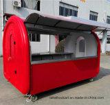 La mejor calidad de alimentos baratos móviles de camiones de remolque comida Airstream Carro de comida al aire libre