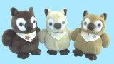 Giocattolo molle dell'orso dell'animale domestico della peluche con Squeaker all'interno