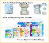 Горячие продажи дешевой цене высокого поглощения дышащий пленки одноразовые Baby Diaper, пленки PE РР ленты Baby Diaper