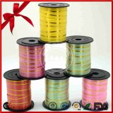 SGS Green Holographic Film Curly Ribbon pour l'emballage cadeau