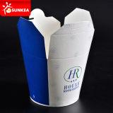 L'abitudine toglie il contenitore di alimento di carta con la maniglia/senza maniglia
