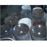 Heißer Verkaufs-natürliche runde Steinwanne mit Qualität
