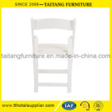Moderno diseño simple boda silla plegable blanco