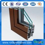 Revestimiento en polvo de bronce de marco de la puerta de la ventana Perfil de aluminio