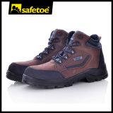 Sapatos de segurança de couro Nubuck não-metálicos com fibra microfibra resistente à água M-8361