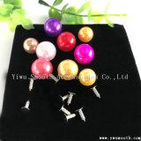 卸し売り方法装飾的な円形のプラスチック多色刷りの真珠の金属のアクセサリ