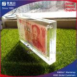Haut en acrylique transparent de l'argent porte-monnaie avec Maganet