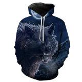 스웨트 셔츠 재킷 외투 의복 Hoody 옷을 인쇄해 짐승