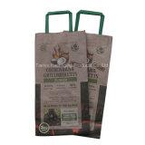 Commerce de gros sacs de charbon de bois Barbecue, sac de papier d'emballage de charbon de bois de noix de coco avec la poignée (6.6lb, 3kg)
