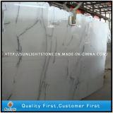 Onda branco cristal polida para ladrilhos de pedra mármore piso de Pavimentação
