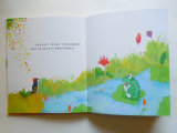 얇은 장을%s 가진 /Water 눈에 보이는 책을 인쇄하는 박판으로 만들어진 아이들 색깔 책